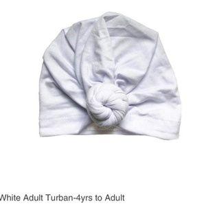 Headbands of Hope Adult White Head Turban